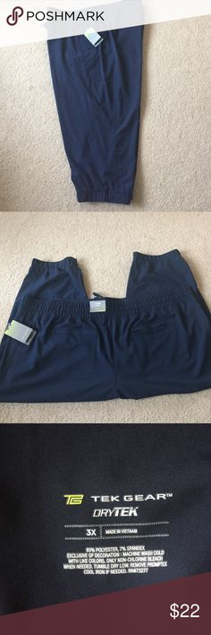 """NWT Lightweight Quickdry  Capri New super cute and comfy navy Capri. Elastic drawstring waistband and gathered elastic at the bottom for added style. 2 pockets in front and 2 in the back. Perfect for working out or just going about. 34"""" waist to bottom. 24"""" waist flat. tek gear Pants Capris"""
