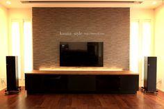 茨城県O邸 ウォールナットのシアターAVラック | 神戸のオーダー家具【kanna】テレビボード・テーブル・キッチン等をあなた好みに提案する家具屋
