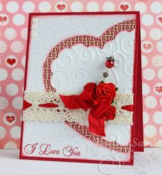 SweetStamps Challenge 1/28/14 Hearts and Lace; DT Kendra