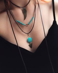 A personal favourite from my Etsy shop https://www.etsy.com/listing/527452857/turquoise-wrap-necklace-leather-necklace