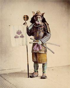 Samurai, about 1875. by Felice Beato or Raimond von Stillfried.