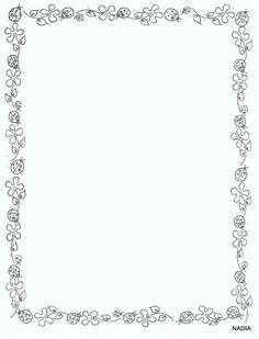 Archivo de álbumes Borders For Paper, Borders And Frames, Portfolio Kindergarten, Idees Cate, Wedding Invitation Background, Writing Corner, Doodle Frames, Page Borders, Journal Paper