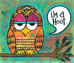 I'm a Hoot 8x10 Fine Art Print 50 Off clearance sale by MoKoPo