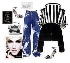 """""""The Gwen"""" by juliabachmann ❤ liked on Polyvore featuring L'Oréal Paris, Americanflat, Dsquared2, Milly, Dolce&Gabbana, Givenchy and Prada"""