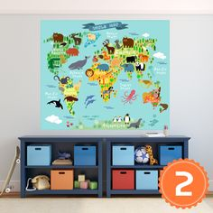Animal world map wall decal nursery map decal by worldmaps on etsy animal world map wall decal nursery map decal by worldmaps on etsy maps pinterest outlines wall decals and nursery gumiabroncs Image collections