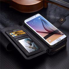 VISIT -- http://playertronics.com/products/portable-zipper-bag-detachable-pu-leather-flip-phone-case-card-slot-wallet-smart-holder-pouch-skin-for-samsung-s6-edge-plus-g920/ Portable Zipper Bag Detachable PU Leather Flip Phone Case Card Slot Wallet Smart Holder Pouch Skin For Samsung S6 Edge Plus G920