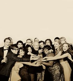 The cast of the one show that I love. I think it's called... Glee. <3