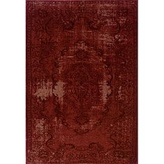 @Overstock.com - Red/ Red Transitional Area Rug (9'10 x 12'10) - One of today's hottest trends, the over-dyed look, is replicated here in washed shades of red. Encompassing the best of both worlds this rug offers high style, affordability and ease of care.  http://www.overstock.com/Home-Garden/Red-Red-Transitional-Area-Rug-910-x-1210/6657656/product.html?CID=214117 $410.39