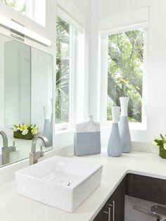 Modern Minimalist | Vessel Sink | White Bathroom | Wood Cabinetry | Bathroom Corner Window | Contemporary Rustic | Coastal Interiors | Ragsdale Residence | Designer: Cassidy Lyons Pickens | Lovelace Interiors | 30A Company | 30A Interior Designer