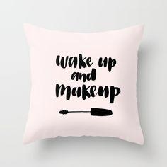 Wake up and Makeup art print for the beauty lover. Hair, makeup, mascara, makeup art