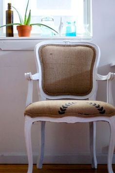 Burlap Sack Chairs this is kind of the look I was thinking for the chair fabric but in canvas