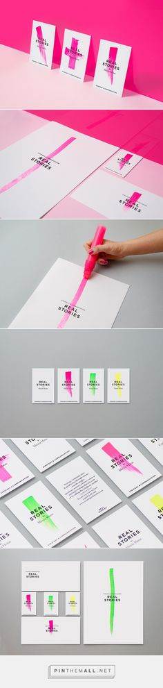 Real Stories Branding by Griselda Martí Corporate Design, Brand Identity Design, Graphic Design Branding, Logo Branding, Restaurant Branding, Branding Ideas, Stationery Design, Corporate Identity, Graphisches Design