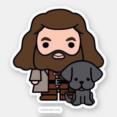 Cartoon Hagrid and Fang Character Art Sticker , Check out this cute Harry Potter cartoon art of Hagrid and his dog Fang! Harry Potter Anime, Harry Potter Thema, Cute Harry Potter, Theme Harry Potter, Harry Potter Drawings, Harry Potter Characters, Harry Potter Memes, Imprimibles Harry Potter Gratis, Stickers Harry Potter