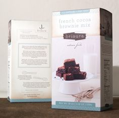 i hate pre mixed cooking/baking you name it but this packaging is too cute to resist.....would definately find on a shelf in my pantry......mmmmm brownie