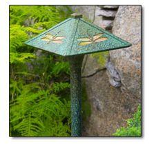 Garden Path Lighting - Dragonfly Stencil Pathway Lights