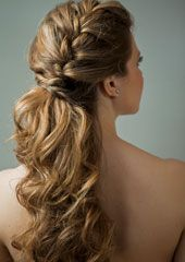 45 Spring Cute Braids Ponytail Hairstyles To Change Your Look, HAİR STYLE, ponytails hairstyles to change your look; lovely low ponytail hairstyles to try; elegant ponytails for your special day; Curled Ponytail, Elegant Ponytail, Braided Ponytail Hairstyles, Weave Hairstyles, Wedding Hairstyles, Braid Hair, Hair Ponytail, Wedding Ponytail, Curls Hair
