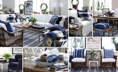 SOMMERWHITE: COASTAL NEW ENGLAND Blue & white decor inspiration