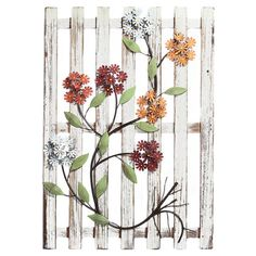 Bring a chic touch of style to your home décor with this eye-catching design, artfully crafted for lasting appeal. Product: Wall d& Material: Metal and woodColor: MultiDimensions: H x W x D Pallet Wall Hangings, Wood Wall Decor, Pallet Art, Floral Motif, Joss And Main, Wall Signs, Decoration, Decorative Accessories, Ladder Decor