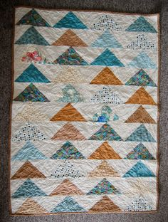 """42 x 62"""" - baby quilt for James - birds of the air quilts"""