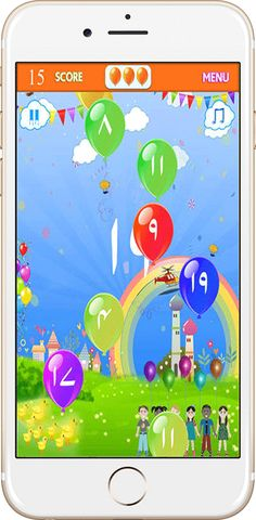 balloon pop numbers game
