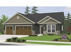 Bungalow House Plan with 2168 Square Feet and 3 Bedrooms from Dream Home Source | House Plan Code DHSW67964