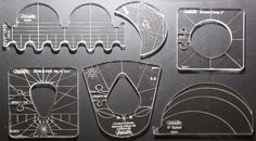 template set (6) Westalee - Free motion ruler work for domestic machine