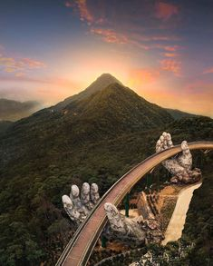 The Golden Bridge, Vietnam. Asia From Above: Stunning Drone Photography by Jonas Hornehøj Beautiful Places To Travel, Wonderful Places, Travel Around The World, Around The Worlds, Travel Photographie, Look Wallpaper, Travel Wallpaper, Worldwide Travel, Da Nang