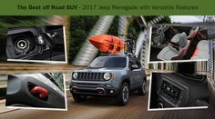 Great utility, sturdy design and extraordinary performance features makes the 2017 #Jeep Renegade the best off-road SUV and perfect for the #UAE's adventure rides.