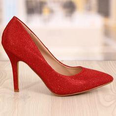 Pantofi Stiletto Rebecca Rosii Cod: 770 Cod, Stiletto Heels, Pumps, Shoes, Fashion, Moda, Zapatos, Shoes Outlet, Fashion Styles