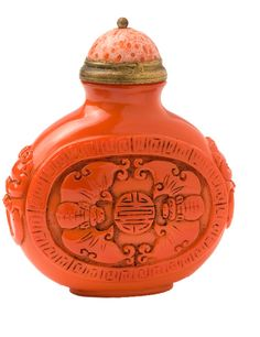 coral snuff bottle