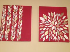 My version of the scrapbook page flower wall art. #DIY #crafts