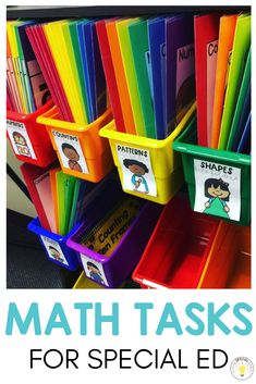 Need ideas for how to successfully run math rotations in your special education classroom? Check out how I used these teacher run and independent skill centers to help my kids. I did this set-up with my kindergarten, and grade sped students a Preschool Classroom Setup, Autism Classroom, Preschool Schedule, Classroom Supplies, Future Classroom, Classroom Activities, Classroom Ideas, Special Education Activities, Special Education Classroom