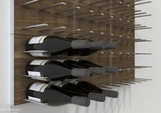 Design inspiration for the latest wine cellar and wine display trends in Mix & match the space-saving STACT wine racks in the home or restaurant. Wine Rack Wall, Wine Wall, Wall Racks, Caves, Wine Rack Inspiration, Modern Wine Rack, Wall Storage Systems, Modular Storage, Modular Walls