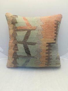Kilim pillow Ethnic pillow 16x16 Bohemian pillow Throw pillow | Etsy Kilim Pillows, Throw Pillows, Geometric Pillow, Bohemian Pillows, Outdoor Sofa, Hand Weaving, Ethnic, Cotton Fabric, Wool