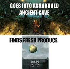Skyrim logic...actually this makes sense as the current descendants of the dead would visit the crypts and leave offerings.