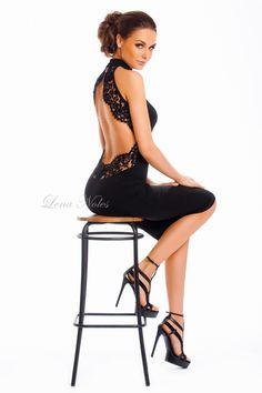 Коктейльное черное платье с открытой спиной от Lena Noles за 19 500 руб. с доставкой