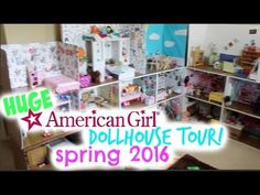 HUGE AMERICAN GIRL DOLL HOUSE !! | NEW 2016 Doll House Tour | MommyN MeAG - YouTube