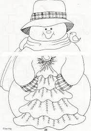 Resultado de imagen para pintura country diseños con patron Christmas Makes, Christmas Wood, Christmas Colors, Christmas Snowman, Christmas Projects, Christmas Decorations, Light Bulb Crafts, Snowman Quilt, Christmas Coloring Pages
