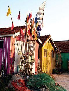 Shed Plans - Autumn colors Ile d'Oleron / Couleurs cabane en Ile d'Oléron Santorini, Les Mathes, Boutique Deco, Poitou Charentes, Ville France, Shed Plans, France Travel, Vacation Trips, Wonderful Places