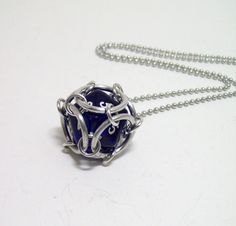 geek necklace, dungeons and dragons, chainmaille pendant, keychain, geekery, mens necklace. $10.00, via Etsy.