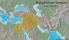 Map of the Babylonian Empire (606-535 BC.)