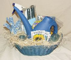 gardening gift baskets | Home ♦ Gift Baskets ♦ Garden Gift Basket (Blue)