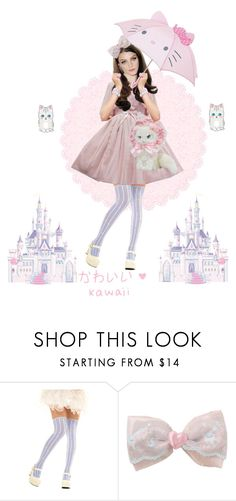 """""""Meow."""" by crimson-crow ❤ liked on Polyvore featuring Hello Kitty and RoomMates Decor"""