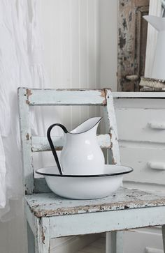 we washed our hands on the porch***I still have this pitcher and basin.  They were my grandmother's.