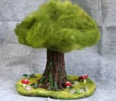 Felt  bonsai - encounter light magazine  at.YOKA