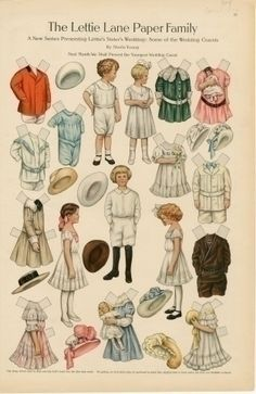75.2763: The Lettie Lane Paper Family: Some of the Wedding Guests   paper doll   Paper Dolls   Dolls   Online Collections   The Strong