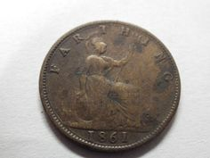 Antique Victoria/Victorian Farthing Coin  - 1861. Loads more vintage items in the hospice's ebay shop www.shopatstfrancis.co.uk