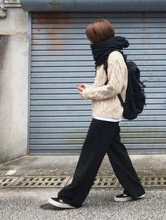 Japan Fashion, Home Fashion, Unique Fashion, Diy Fashion, Trendy Fashion, Korean Fashion, Fashion Ideas, Fashion Boots, Japan Winter Fashion
