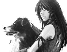 Week 8 - Final Fantasy VIII - Fan Art Wed - rinoa_and_angelo final fantasy VIII  game character fan art by_accuracy0