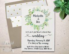 invitation de mariage imprimable dinvitation de par DesignYourLove